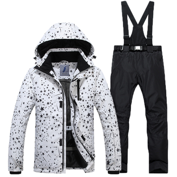 Thickening, Windproof,Waterproof Outdoor 2019 Single And Double Skis, Free Shipping Outdoor New Men's Skiing Suit Warm,