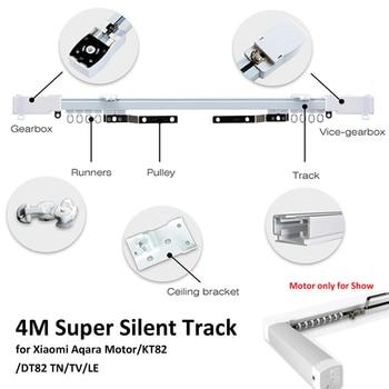 4 M ou menos Xiao mi Aqara Calhas para Cortinados, Zigbee Wi-fi trabalho com mi CASA, inteligente de controle remoto silencioso pista, também para Dooya KT82 TN