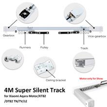 4M or less Xiaomi Aqara Curtain Rails,Zigbee Wifi work with MI HOME,smart remote control silent track,also for Dooya KT82 TN