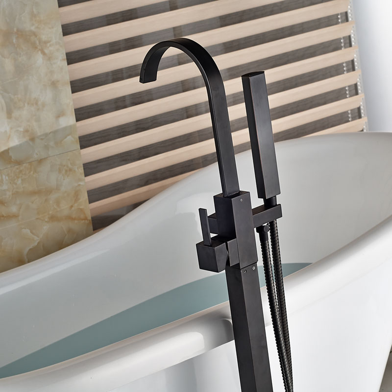 Modern Freestanding Bathtub Faucet Tub Filler Oil Rubbed Bronze ...