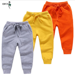 Retail Sale Cotton Pants For 2-10 Years Old Solid Boys Girls Casual Sport Pants Jogging Enfant Garcon Kids Children Trousers(China)