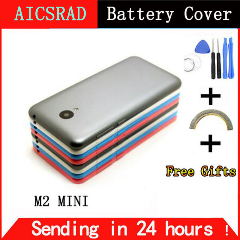 AICSRAD Battery Cover For Meizu M2 MINI Battery Back Cover Door Case housing Sim Stray Camera Lens+ Buttons Cell phone casing