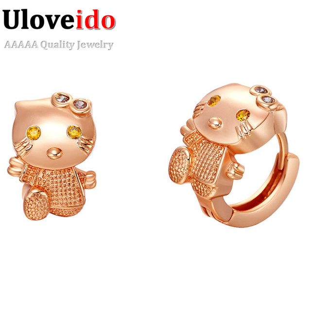 Cute Hello Kitty Cuff Earrings Sweety Korean Brand 925 Sliver Stud
