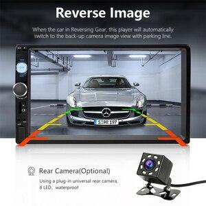 "Image 2 - Jansite 7 ""מלא HD 1080P רכב רדיו MP5 נגן DVD עם 8LED אור אחורי מצלמה מסך מגע Bluetooth מראה קישור 2 דין רכב סטריאו"