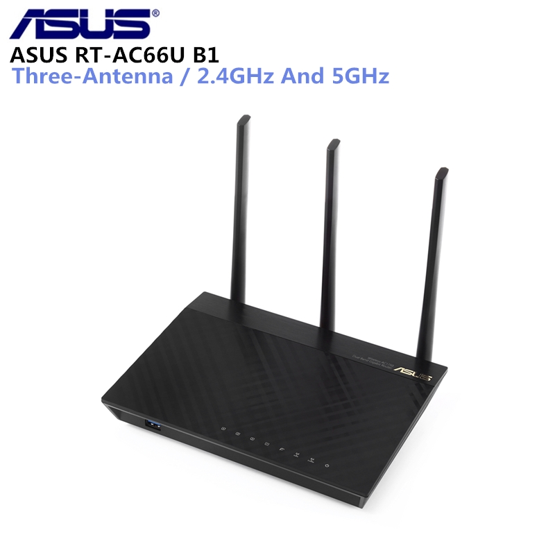 ASUS RT-AC66U B1 Router 2.4G/5G Dual-Band WiFi Router Wireless AC1750 4-Port Gigabit Router IEEE 802.11ac/A/B/N Router asus rt ac88u wireless router