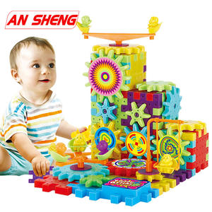 Building-Blocks-Kits Electric-Gears Duploe 3D Plastic for Kids Children Christmas-Gift