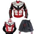 PU cuero de la motocicleta pantalones Duhan PU chaqueta de la motocicleta a prueba de viento virtual JD092 músculos moto compite con las chaquetas de los hombres