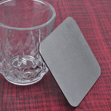 Newest design Aluminum desk set Decor Mug Bottle square Pad Coffee Placemat for your home/hotel/office cup holder