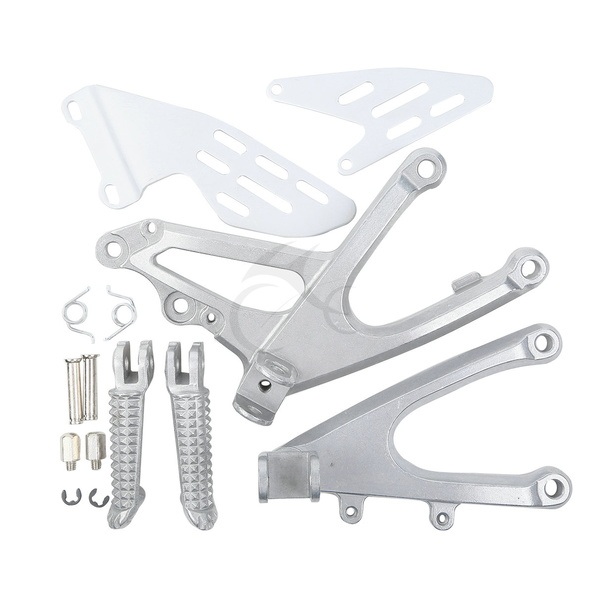 Front Rider Footrests Foot pegs Bracket Set For YAMAHA YZF R1 2007 2008 07 08