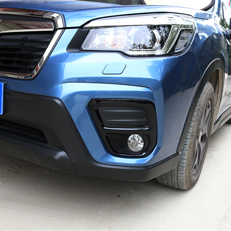For Subaru Forester SK 2019 Exterior Car styling Black Front Fog Light Decoration Cover Trim|Chromium Styling| |  - title=