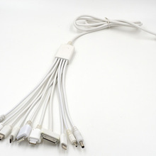 1 to 10 Phone Cable Cord 1M 10 in 1 universal usb cables for