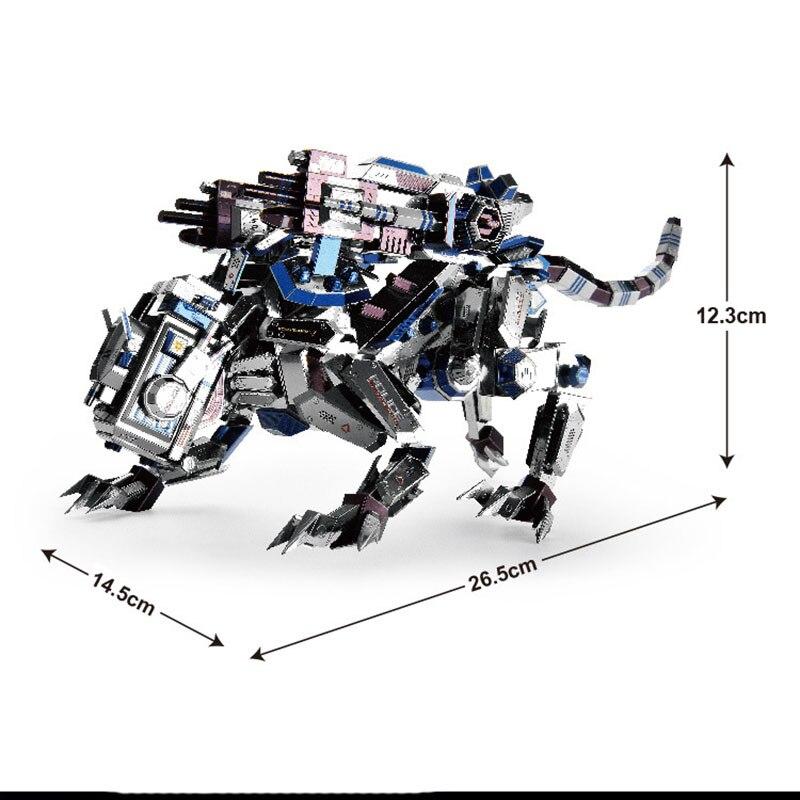 8 штук 366 кусочков деталей Креативные 3D DIY Металлические бойцовские доспехи Полицейские собаки собрать модель головоломки Коллекция игрушек - 5
