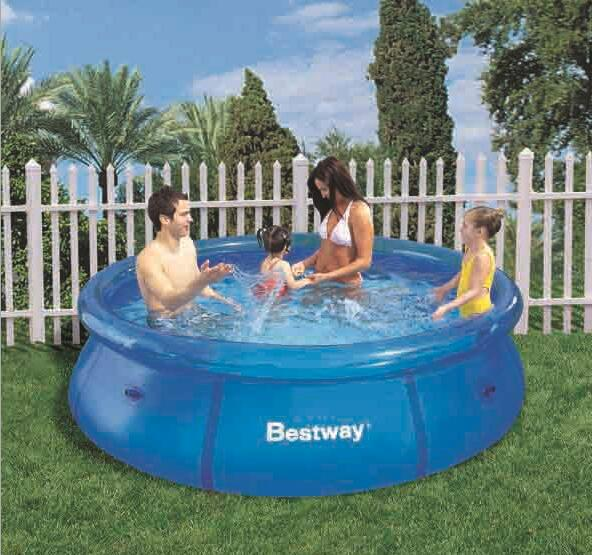 Bestway frame pool aufbau bestway gph above ground swimming pool flowclear sand filter us with - Viereckiger pool ...