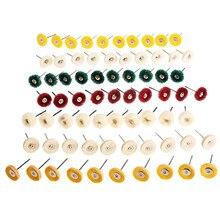 70 Pcs Dremel Accessoires Doek Wol Leer Stalen Wielen Borstels Rotary Gereedschap voor Mini Boor Metalen Buffing Polijsten Ontbramen