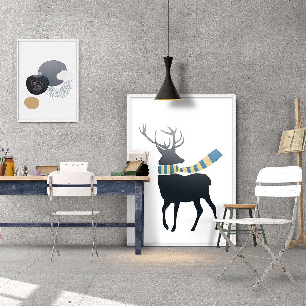 popular color deer buy cheap color deer lots from china color deer modern fashion colorful deer composition poster a4 print wall picture shop living room home decorative art