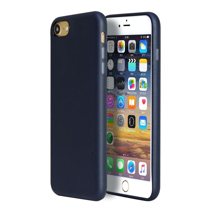 Cajas del teléfono de cuero para iphone 7 7 plus duzhi busniess estilo cubierta