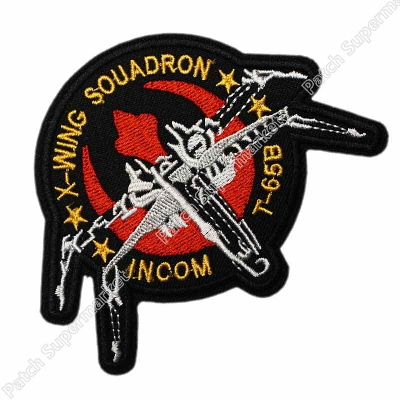 4 X wing Squadron Incom Embroidered Patch Star Wars Darth Vader Rebel Luke Skywalker Movie TV