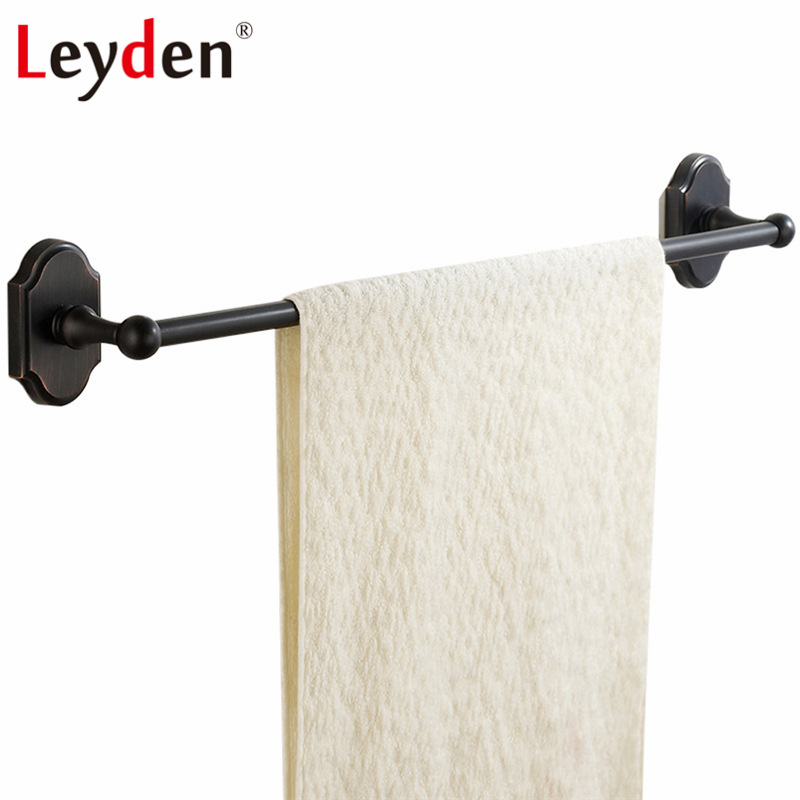 Leyden SUS 304 Stainless Steel Single Towel Holder Wall Mounted Towel Bar Oil Rubbed Bronze Towel Rack ORB Bathroom Accessories