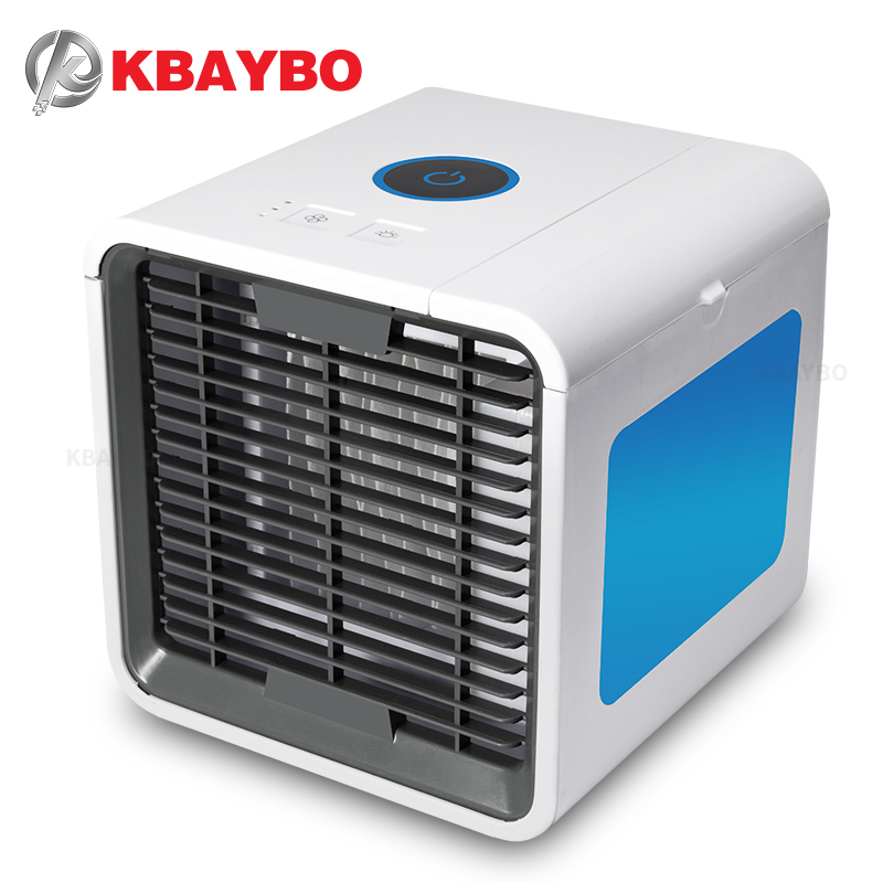KBAYBO USB Mini Air Conditioner Portable Air Cooler Fan Summer Personal Space desk fans Cooler Device cool wind for home office new portable outdoor mini fans with led lamp light table usb fan spray water humidifier personal air cooler conditioner for home