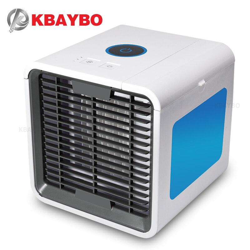 KBAYBO USB Mini portátil de aire acondicionado ventilador enfriador de aire del espacio Personal escritorio refrigerador dispositivo viento fresco para el hogar oficina