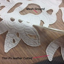 1Yard 91*130cm,Tulle Faux Pu Leather Lace Fabric,African Lace for Dress,Apparel Sewing Tissu Cloth,French Lace Fabrics DIY Cloth