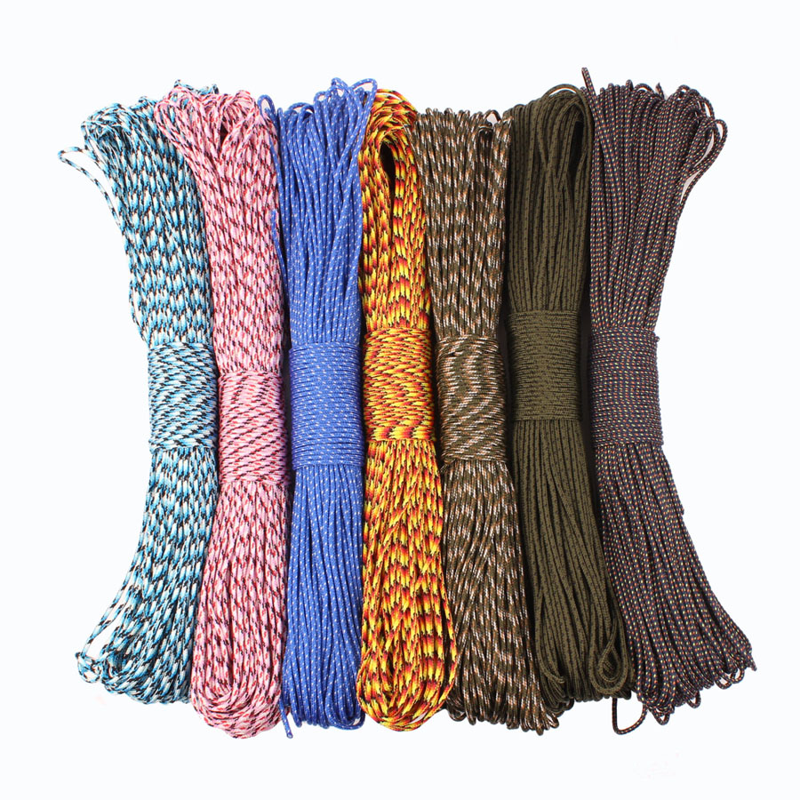 CAMPING SKY Paracord 2mm  3 Strand Paracord Core Outdoor Camping Rope Parachute Cord Lanyard Tent Multifunction Corda