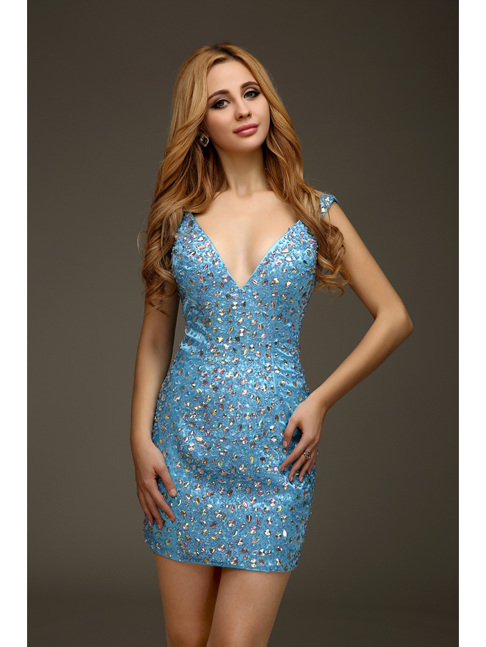Online Buy Wholesale short tight sparkly homecoming dresses from ...