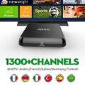 O Francês Árabe IPTV S812 M8S TV Box 2 GB/8 GB Por Mês Ano Canal plus Crianças Céu Europa qhdtv para esportes esportes IPTV livre grátis