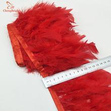 ChengBright новый 2 ярдов турецкие перья обрезать ткань боковины курицы фазана перо планки Одежда Свадебные Перья ленты B