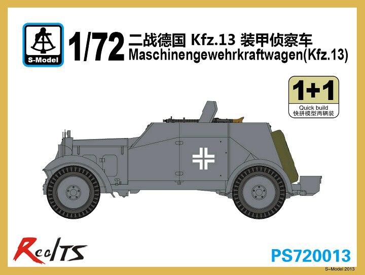 RealTS S-model 1/72 PS720013 Maschinengewehrkraftwagen Kfz.13 (1+1)