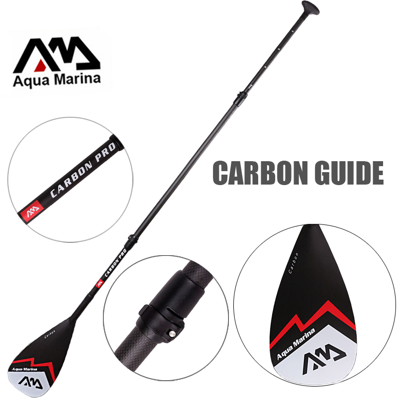 AQUA MARINA carbon fiber pro fiber paddle for SUP stand up paddle surf board adjustable extendable 210cm oar T handle A03007 цены