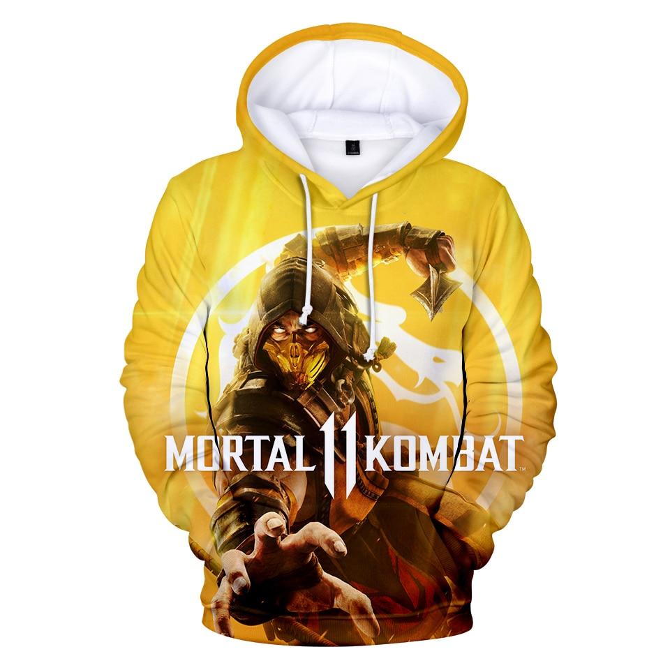 Mortal Kombat 11 Hoodies Kawaii 3D Print Sweatshirt  Clothes 2019 Hot Sale Casual Newest Plus Size Hoodies Fashion Design