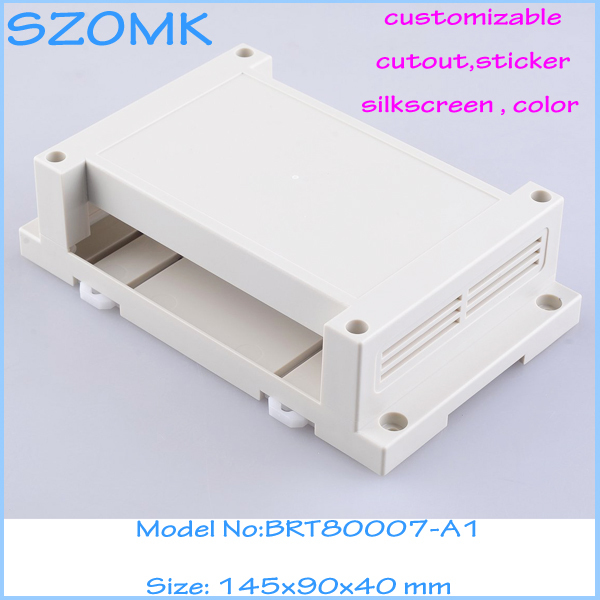 free shipping enclosures for electronics plastic case (1 pcs)145*90*40mm plastic industrial box electronic din rail project box