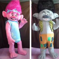 ohlees actual picture New Trolls Mascot Costume poppy branch Parade Quality Clowns Halloween party activity Fancy Outfit