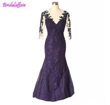 Wholesale  Long Dresses For Real Photo Dark Navy Wedding Guests Mother Of The Bride Dresses Plus Size Mother's  dress