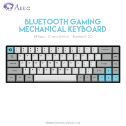 Original AKKO 3068 Drahtlose Bluetooth Mechanische Tastatur Retro 68 Keys USB Typ-C Wired Computer Gamer für Gaming Kirsche schalter