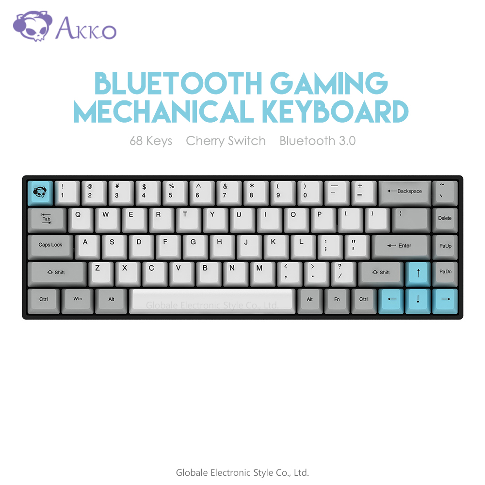 Original AKKO 3068 Wireless Bluetooth Mechanical Keyboard Retro 68 Keys USB Type-C Wired Computer Gamer For Gaming Cherry Switch