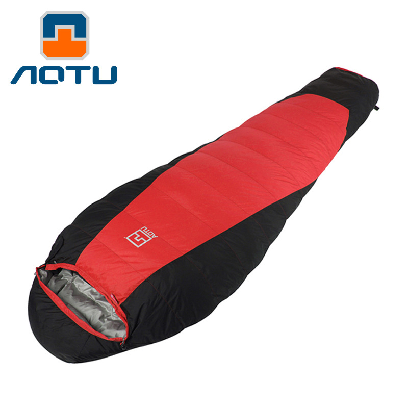 AOTU Outdoor thick down sleeping bag Fill 1500G ultralight duck down camping outdoor winter Travel sleep adult sleeping bags 475 aotu outdoor sleeping bag adult thermal autumn winter envelope hooded travel camping water resistant thick sleeping bag