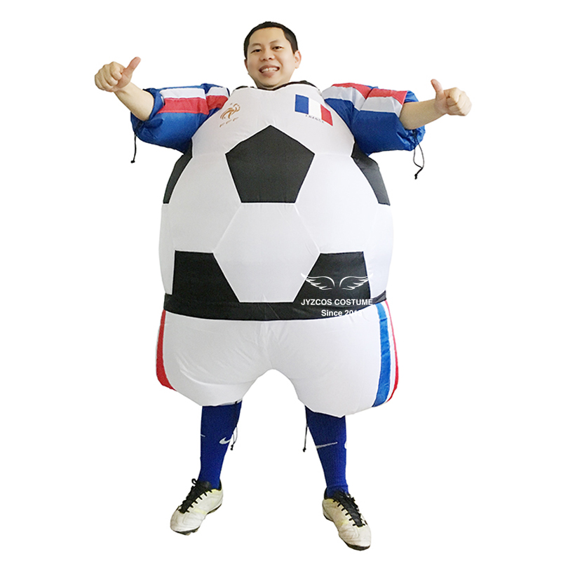 Inflatable Football Costume Carnival Halloween Costume for Adults Soccer Player Inflatable Costume Party Costume Fancy Dress