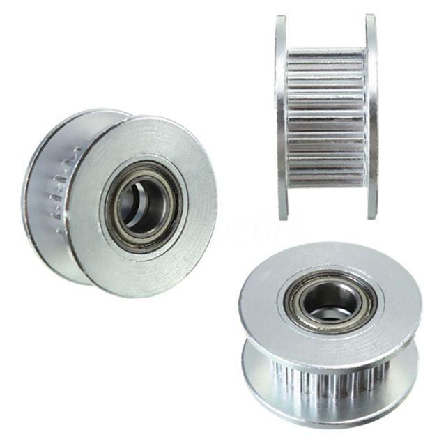 3 шт. в диаметре 20т 5 мм отверстие 6 мм GT2 Ремень Гладкий направляющий ролик с подшипником для 3D принтера