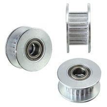 3PCS 20T Dia. 5 millimetri Foro 6mm GT2 Liscia Puleggia Folle con Cuscinetto per 3D Stampante
