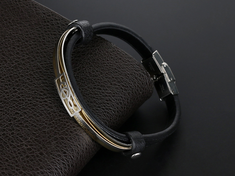 liujun Treble Clef Stainless Steel Musical Bracelet 2