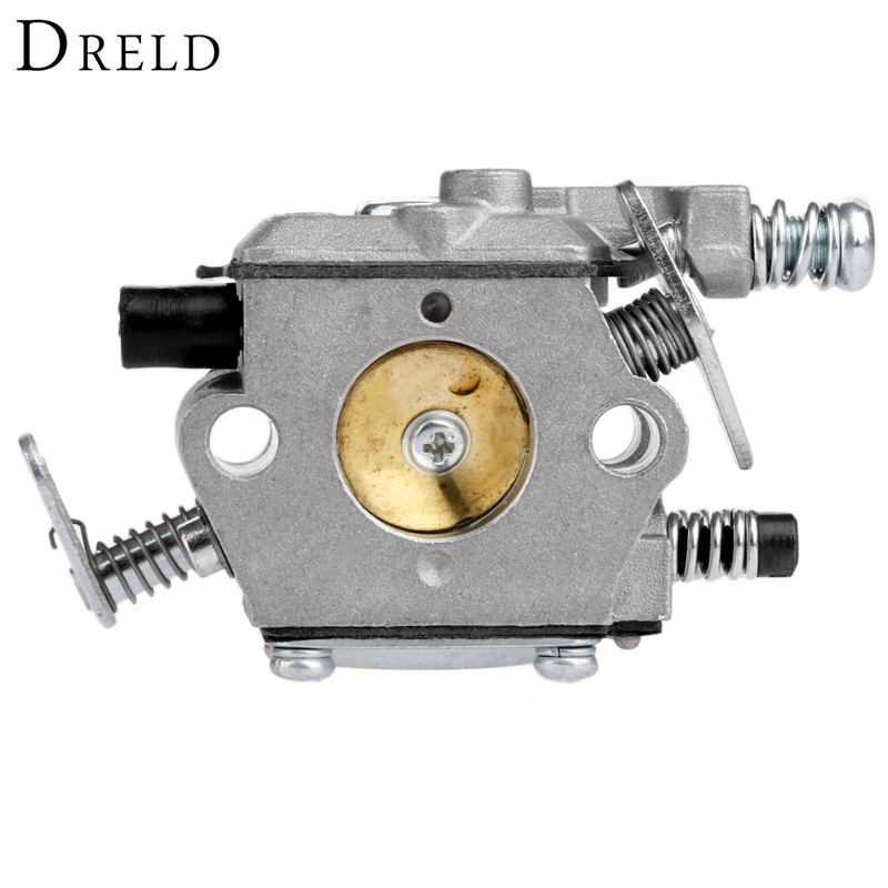 DRELD Chainsaw Carburetor Carb Tool Parts for STIHL 017 018 MS170 MS180 Chainsaw Spare Parts(Walbro Type) Garden Tool Parts 38mm cylinder piston rings needle bearing kit for stihl ms180 ms 180 018 chainsaw