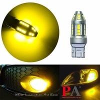 PA LED 2pcs x LED Reversing Light 30SMD 2835 LED T20 7443 Golden Yellow W21/5W Brake Light 10 30V