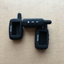 High quality A9 LCD silicone key case tamarak for Russian version Two way car alarm System