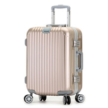 YISHIDUN 22 26inch High-grade Business trolley aluminum frame women luggage box men suitcase caster password boarding travel bag