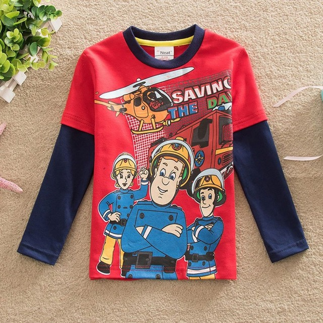 2016 Neat new male T-shirt printing baby&kids children cartoon long-sleeved T shirt children clothing baby boy clothes A3255