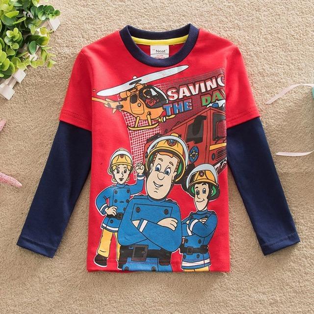Neat 2016 novo T-shirt masculina impressão baby & kids crianças dos desenhos animados de longa-camisa de mangas compridas T camisa crianças roupas de bebê menino roupas A3255