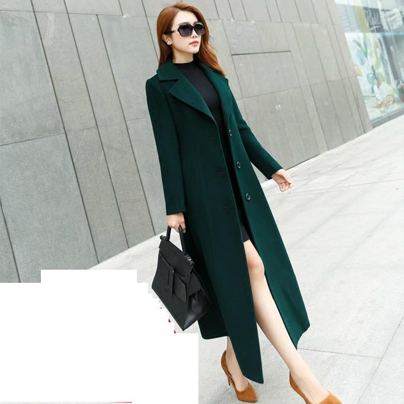 c05a665d59d Осень-зима 2018 г. Новые Модные женские шерстяное пальто Двубортный пиджак  Элегантный bodycon кокон