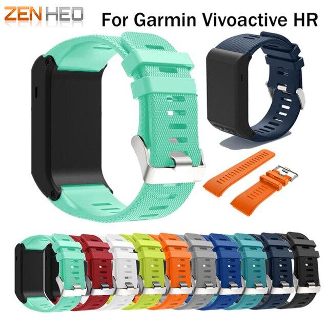 ZENHEO Pour Garmin vivoactive HR Sport Silicone Bracelet Bracelet Bracelet Pour Garmin vivoactive HR Remplacement Bande Rigide